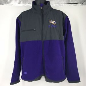 Colosseum LSU Tigers Purple and Charcoal Full-Zip